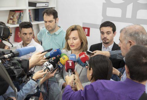 """Pilar Alegría: """"Si anteponemos los intereses de Zaragoza, estoy convencida de que podemos llegar a un acuerdo con Ciudadanos"""""""