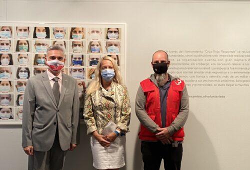 La DPZ muestra en la sala 4º Espacio la labor social y sanitaria de Cruz Roja durante la epidemia del COVID-19