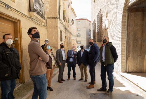 Sánchez Quero visita la rehabilitación de la Casa de las Conchas de Borja