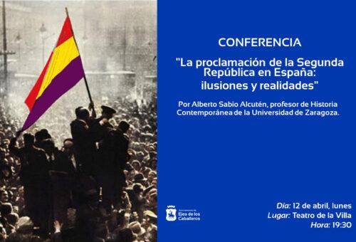 Ejea acoge una conferencia del profesor Alberto Sabio sobre la II República con motivo de su 90 aniversario