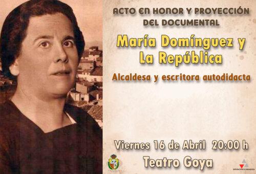 Caspe programa un acto en torno a la personalidad de la primera alcaldesa republicana María Domínguez